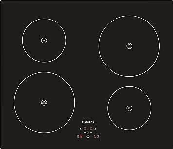 Siemens EH611BE10J Integrado Con - Placa (Integrado, Con placa de inducción, Vidrio y cerámica, Negro, 1400 W, 15 cm): Amazon.es: Hogar