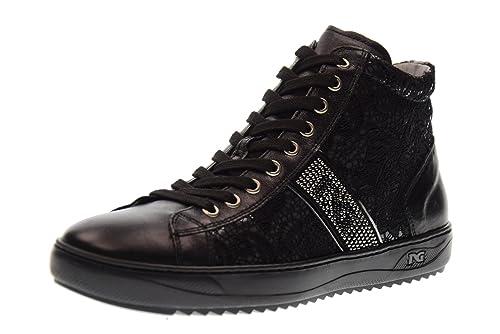 Nero Giardini Scarpe Donna Sneakers Alte A719242D 100 Nero Taglia 40 Nero   Amazon.it  Scarpe e borse bef8ed89645
