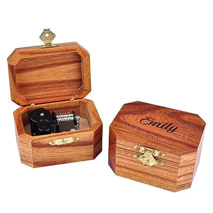 Awerise Personalizada de madera caja Musical de Octangle, Custom de dama BOX, madera caja