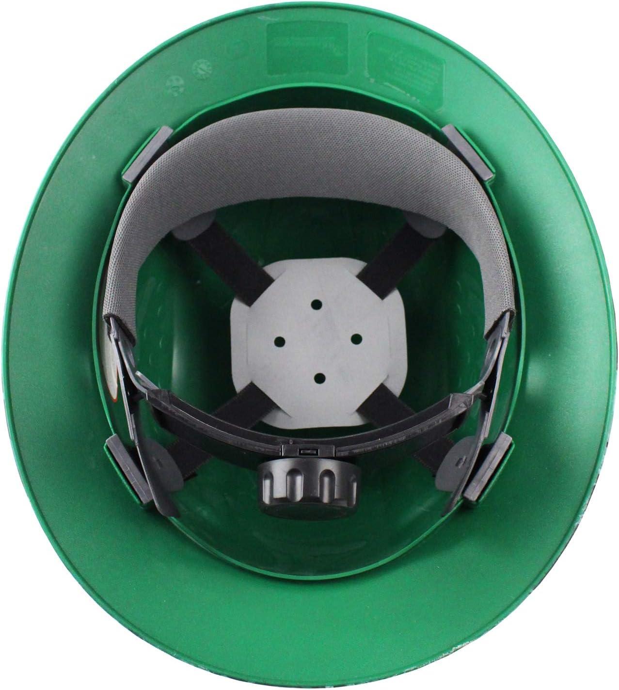 1 EA, Brown RK Safety RK-HP44-DESIGN Hard Hat Brim Style with 4 Point Ratchet Suspension