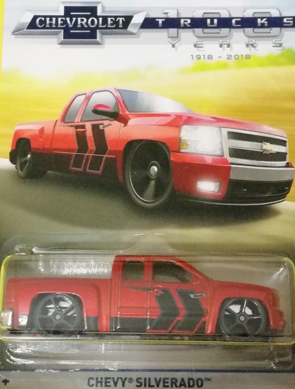 Hot Wheels 100 Years Chevrolet Trucks Red Chevy 1968 Truck 50th Anniversary Silverado Die Cast Toys Games