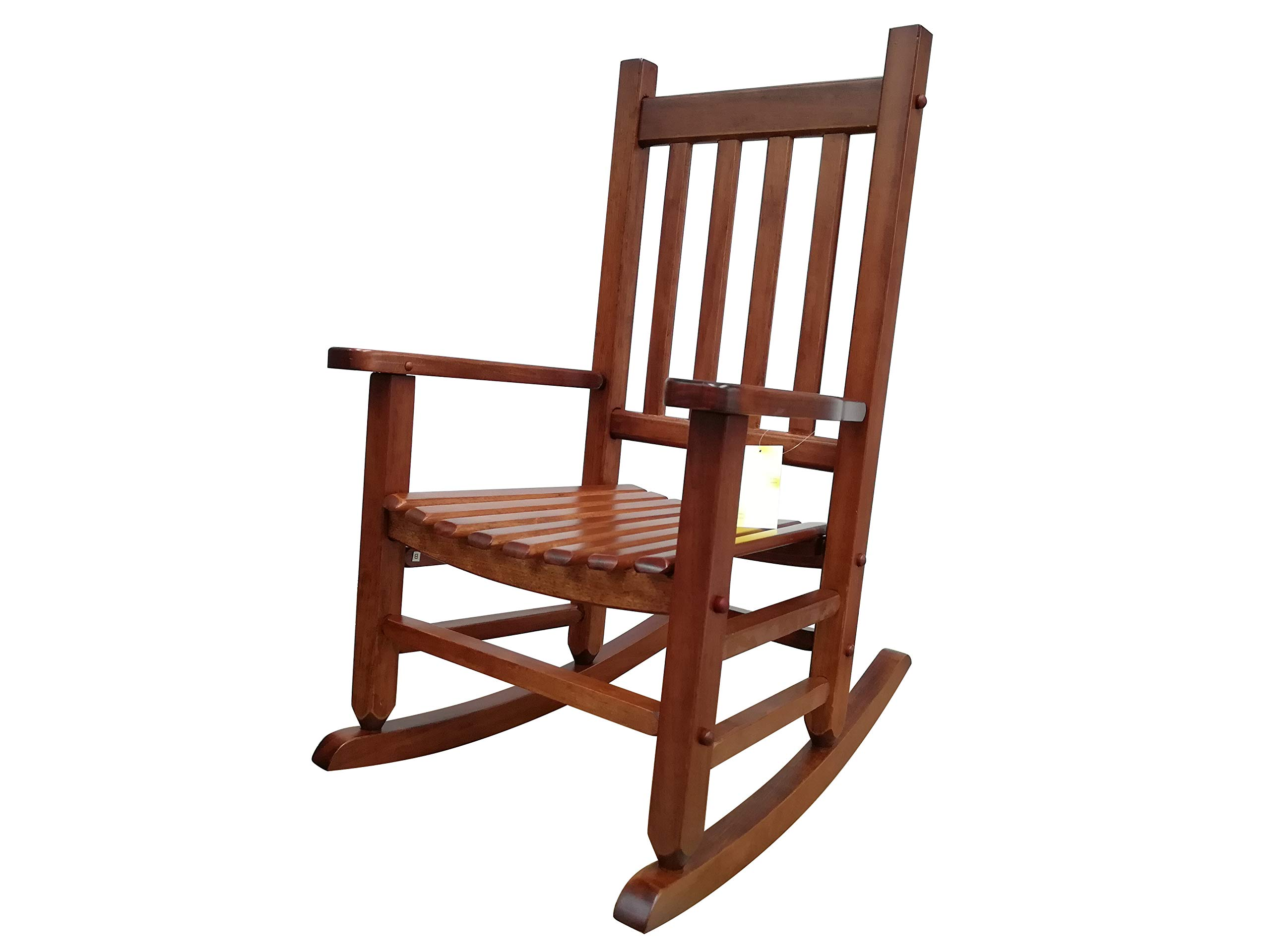 Rockingrocker - K086NT Durable Natural Child's Wooden Rocking Chair/Porch Rocker - Indoor or Outdoor - Suitable for 4-8 Years Old