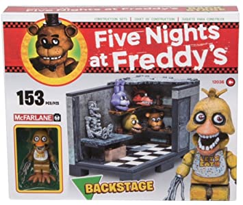 amazon com five nights at freddy s backstage construction set toys
