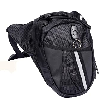 DQMEN Bolso de pierna Monedero multifuncional de nylon Para viajes Ciclismo Escalada Senderismo Camping Riding Bike Motorcycle Pack Bolso de Pierna de ...