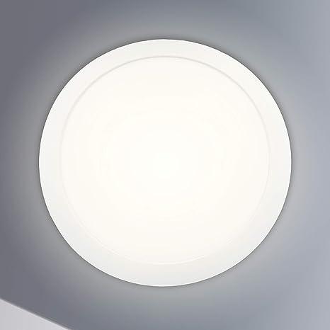 LED Deckenleuchte Bad Rund Badezimmer-Lampe flach 24W Schlafzimmer Küche Flur