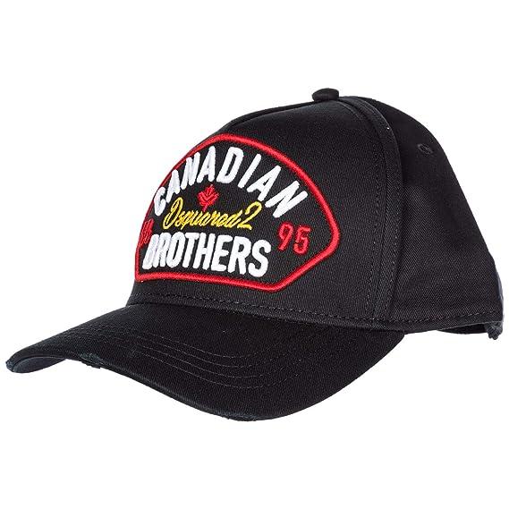 7cbc7edbde657 Image Unavailable. Image not available for. Colour  Dsquared2 adjustable  men s cotton hat baseball cap Canadian Brothers black