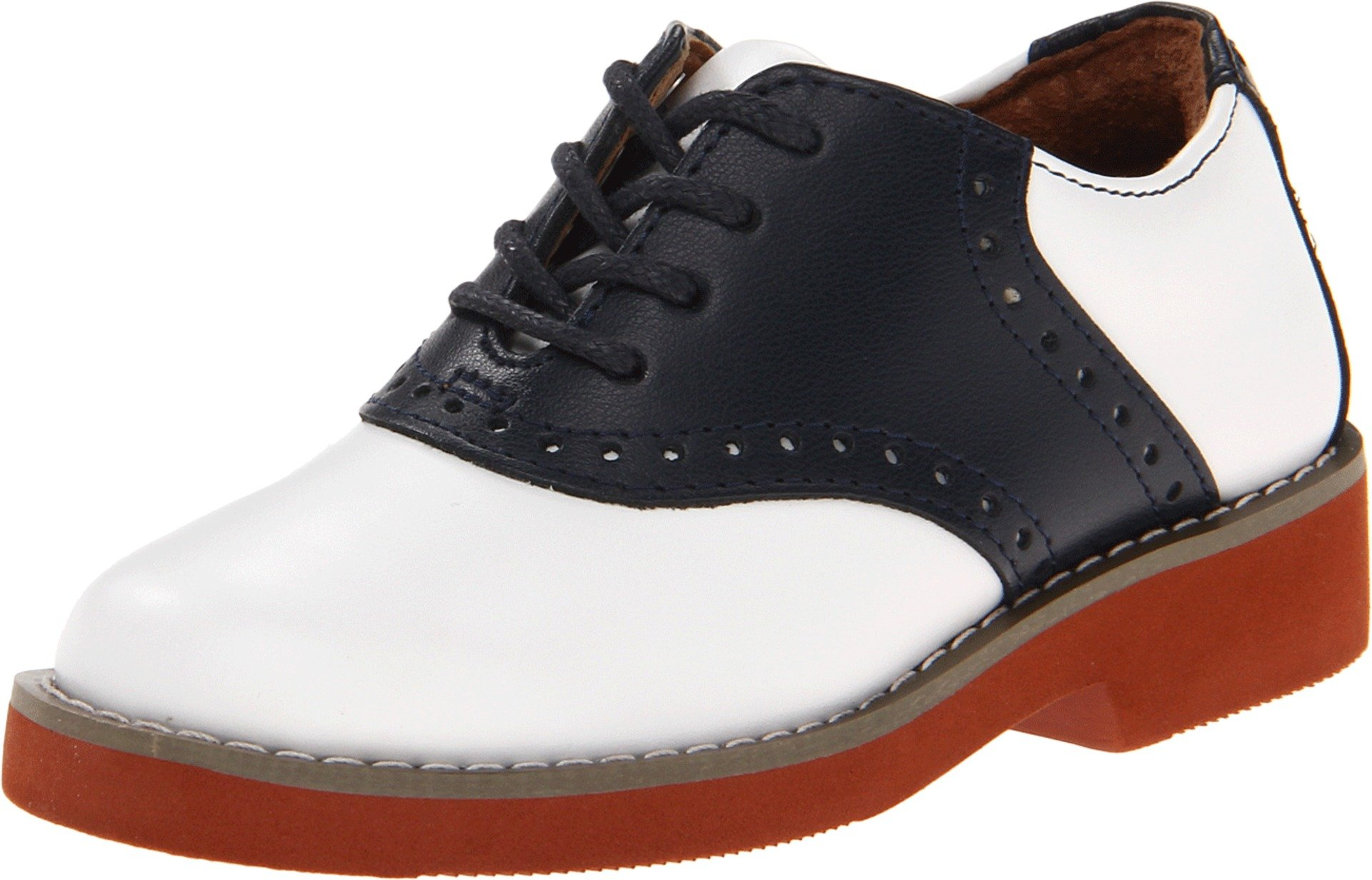 School Issue Upper Class Oxford (Adult),Navy/White,6.5 M US Women's