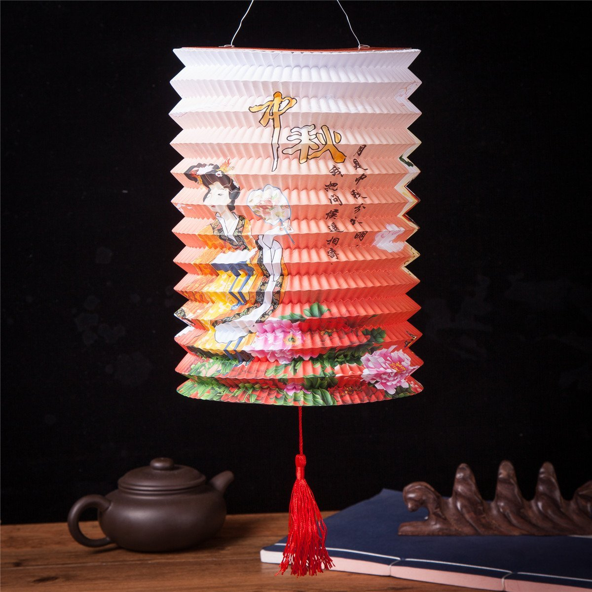 Set Of 6 Goddess Chang E Fly To The Moon Chinese Festival Party Celebration Home Decor Lanterns by THY COLLECTIBLES (Image #4)