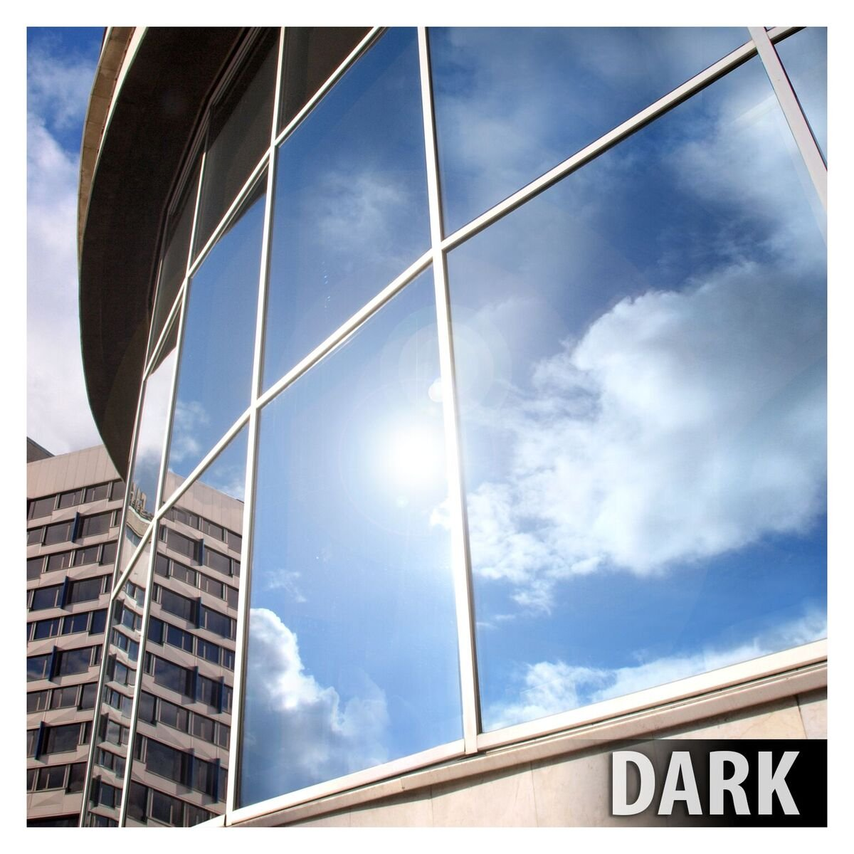 BDF EXS15 EXTERIOR Window Film Privacy and Sun Control Silver 15, Dark - 24in X 14ft