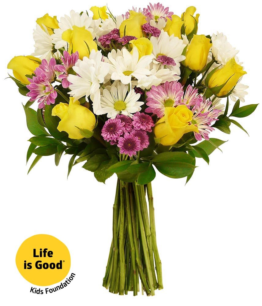 Amazon benchmark bouquets life is good flowers yellow with amazon benchmark bouquets life is good flowers yellow with vase grocery gourmet food izmirmasajfo