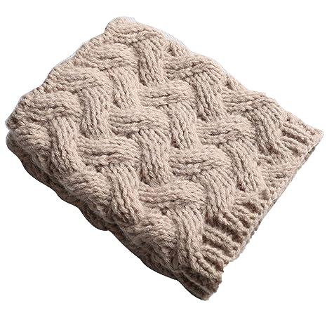 1 par de mujeres Resumen espesar ganchillo punto perneras invierno calentadores calcetines arranque puños calcetines acolchados