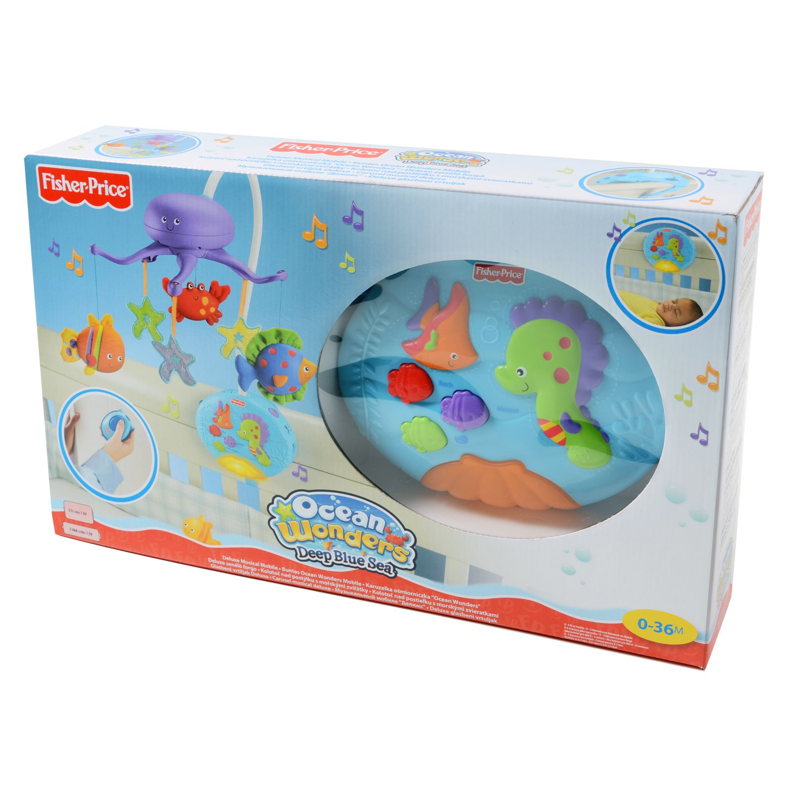 Fisher-Price Ocean Wonders Deep Blue Sea Mobile Fisher-Price Crib Mobiles Remote Control by Fisher-Price (Image #5)