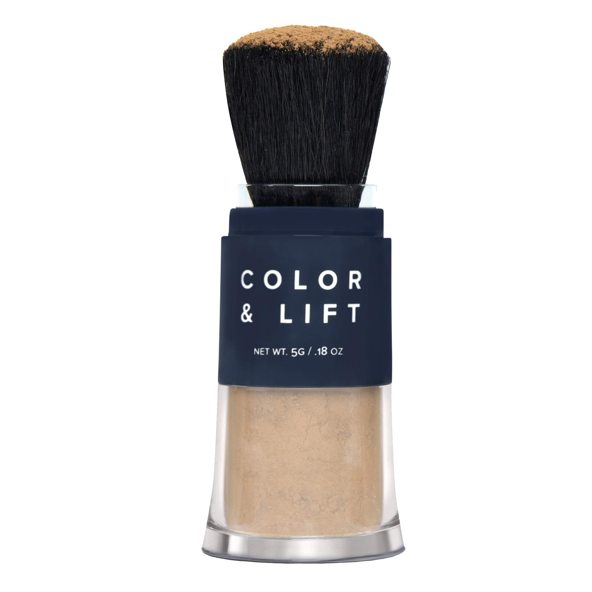 Color & Lift with Thickening Powder - Available in 8 Hair Colors - Root Cover Up - Temporary Hair Coloring Brush that Refreshes Hair - Medium Brown by TRUHAIR by Chelsea Scott
