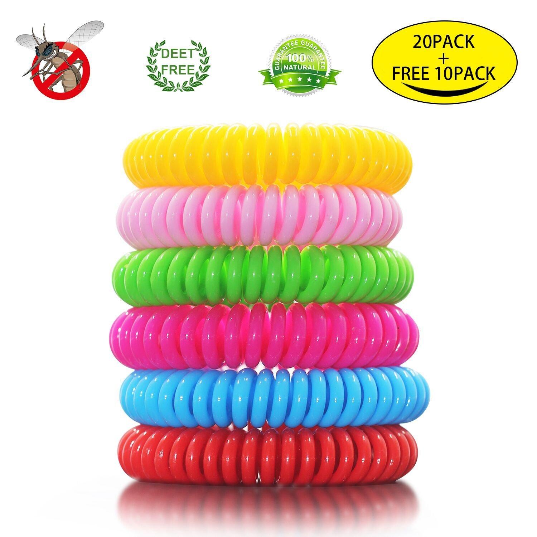 Otbba Bracelet 20 20 Pack Mosquito Repellent Bracelet 100 Natural