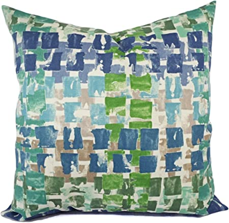 Outdoor Pillow Covers Blue and Green