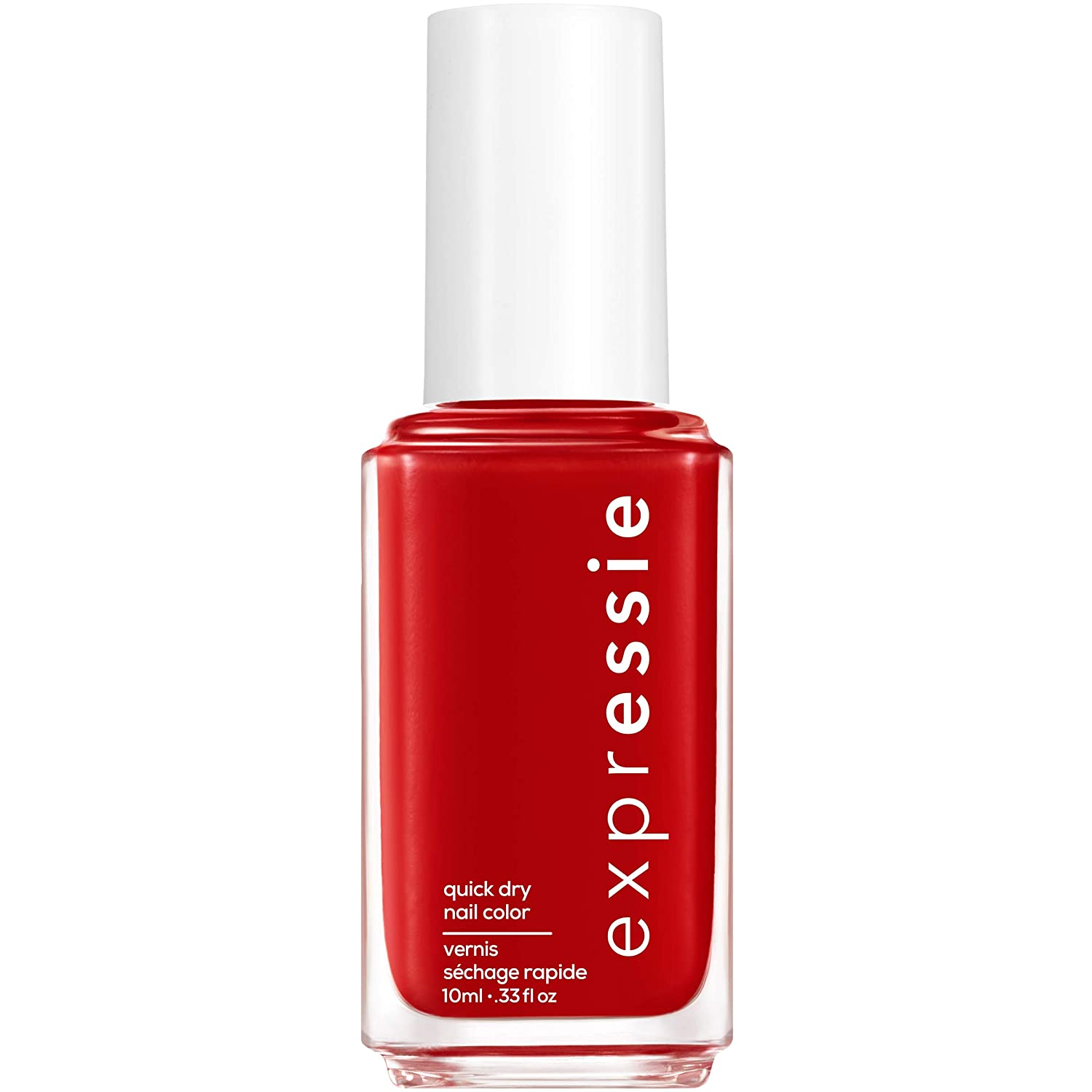 essie expressie Quick-Dry Vegan Nail Polish, Seize The Minute, Blue Toned Red, 0.33 Ounce