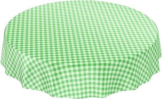 Mantel de hule encerado a cuadros lavable para mesa, toalla, verde ...