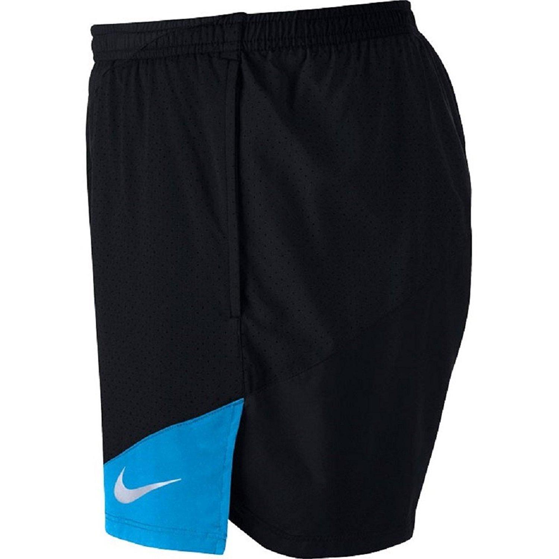 XL x 5 Black//Light Photo Blue 904221-014 Nike Flex 2-in-1 Mens 5 Running Shorts