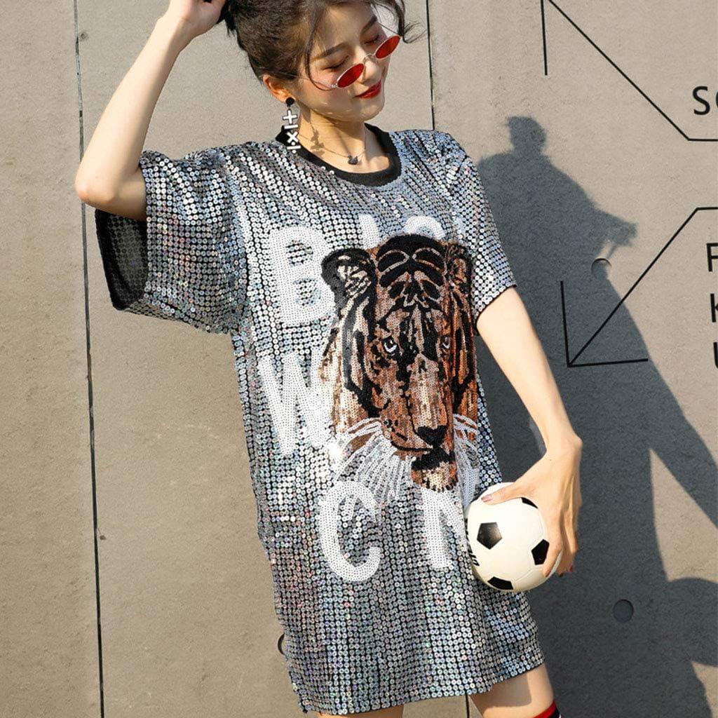 Ropa Suelta De Gran Tamaño para Mujer Cabeza De Tigre