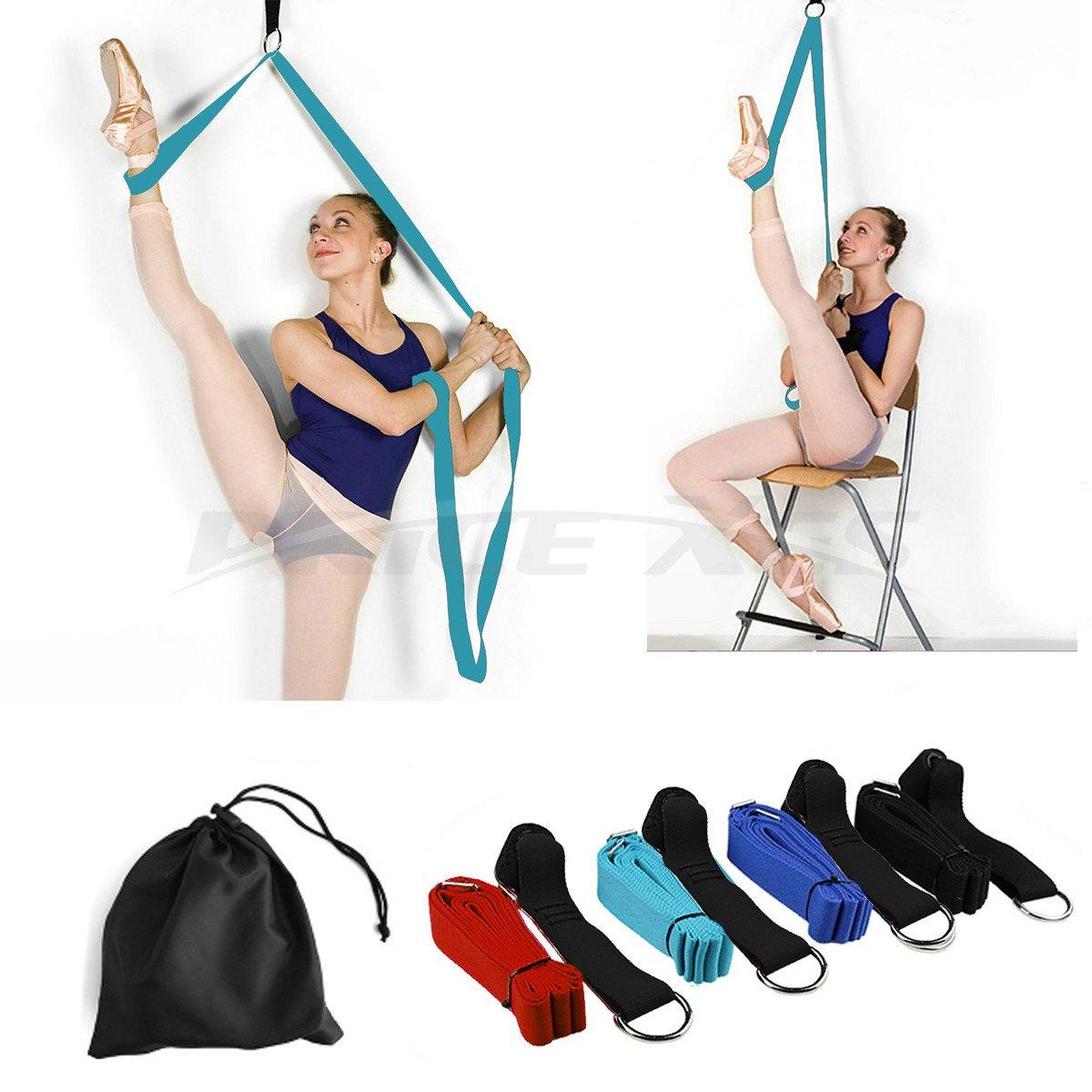 Flexibilidad de puerta y estiramiento pierna correa–gran alegría Danza de ballet para gimnasia o cualquier deporte pierna Camilla puerta flexibilidad Trainer Premium estiramientos equipo, Azul Price Xes MHNWEBSX001