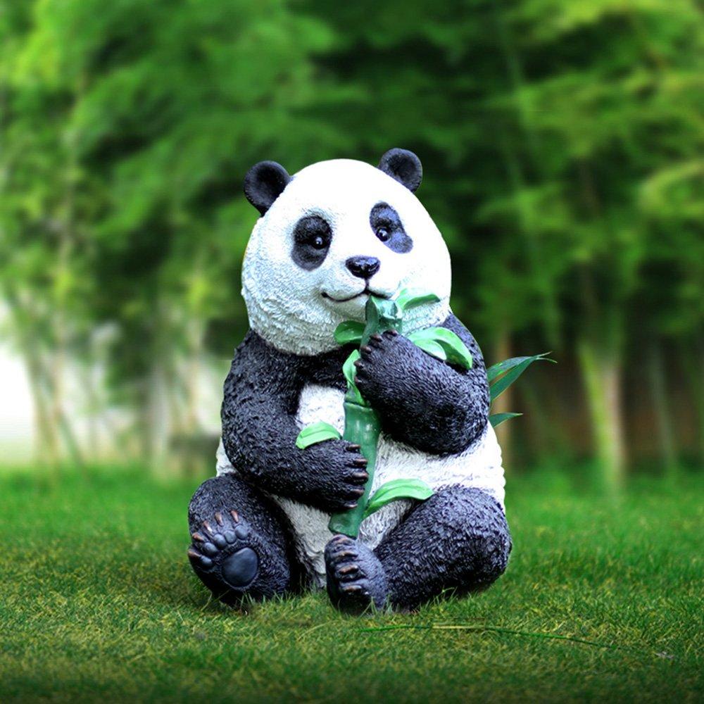 J-Beauty Outdoor Panda Garden Sculpture Decoration Statue Garden Decor (22 inch H)