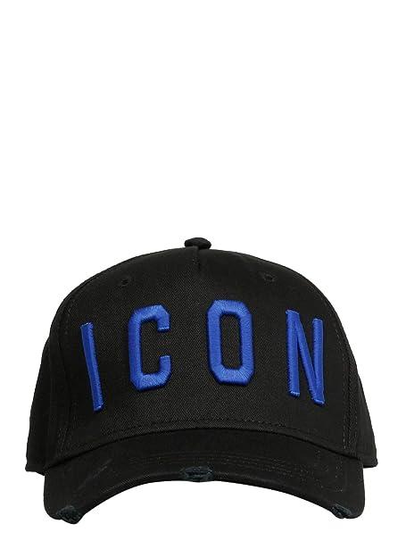 DSQUARED2 Cappello Uomo Bcm400105c00001m1571 Cotone Nero  Amazon.it   Abbigliamento dd868d859d46