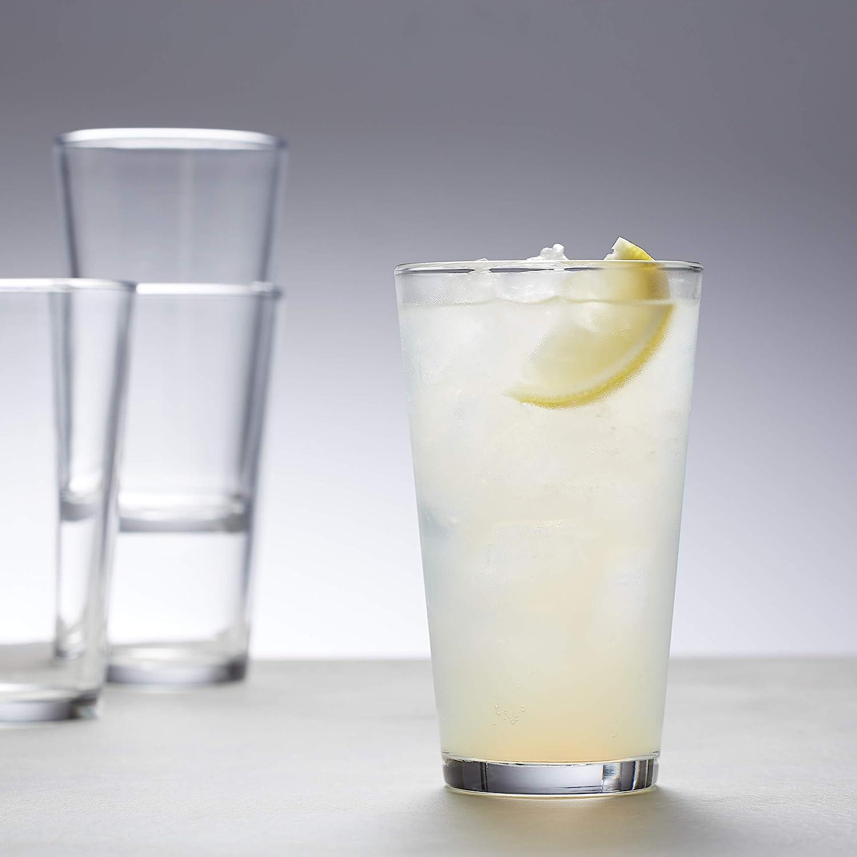 16-Ounce Basics Pint Pub Beer Glasses Set of 6
