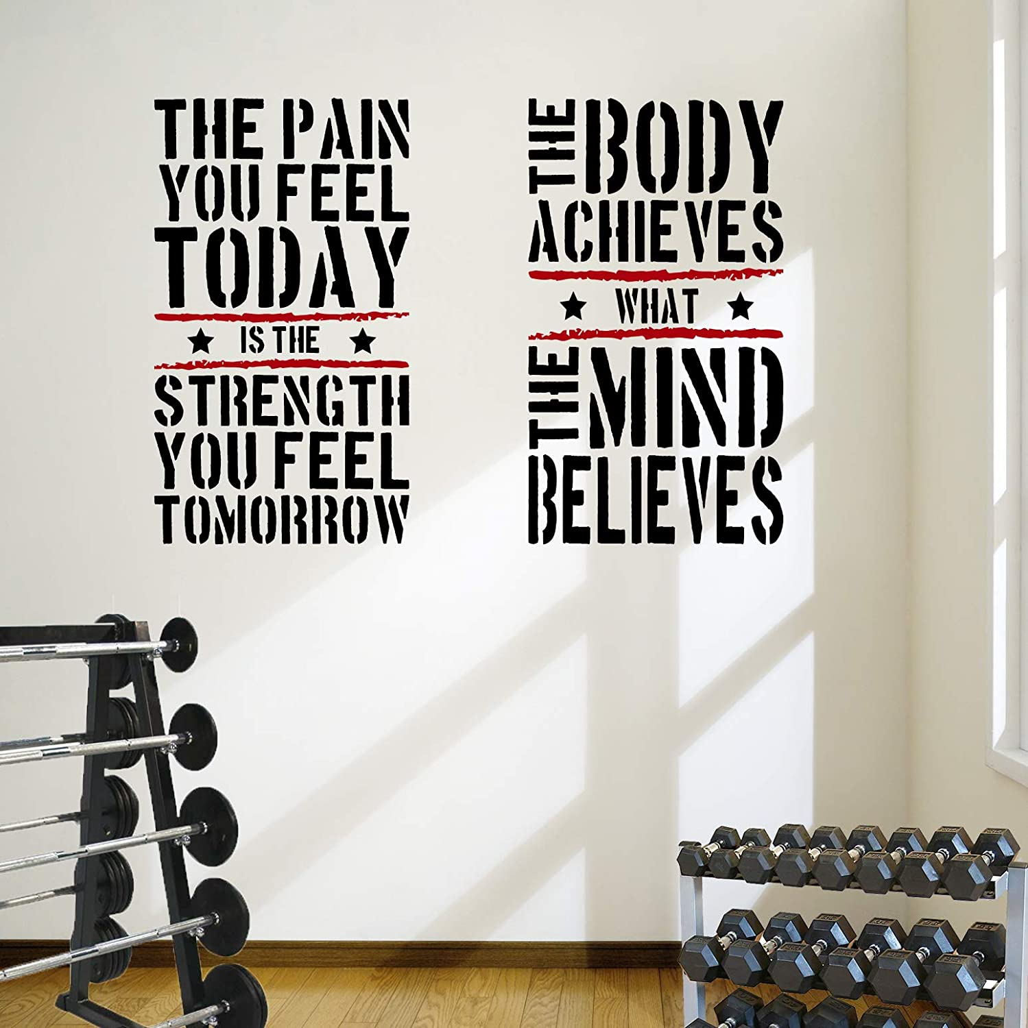 2 grandes Home Gym Fitness Motivational Wall Decal citas ...