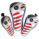 Craftsman Golf Stars and Stripes Flag Headcover Driver Head Cover for Scotty Cameron Taylormade Odyssey Driver Fairway…