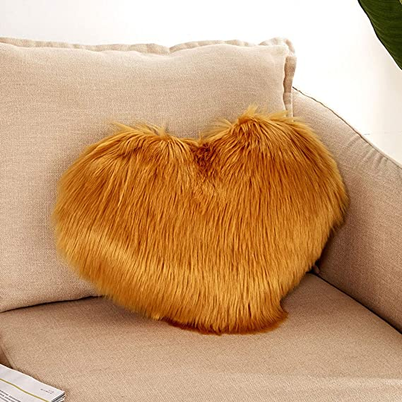 Amazon.com: Pillow case Protector,EOWEO Heart Shaped Throw ...