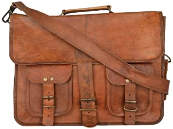37468fb190c9 Image Unavailable. Image not available for. Colour: Mk Bags vintage bags  genuine leather messenger ...