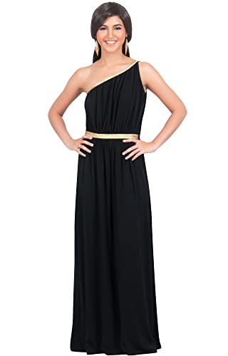 KOH KOH Womens Long One Shoulder Sexy Bridesmaid Summer Evening Gown Maxi Dress