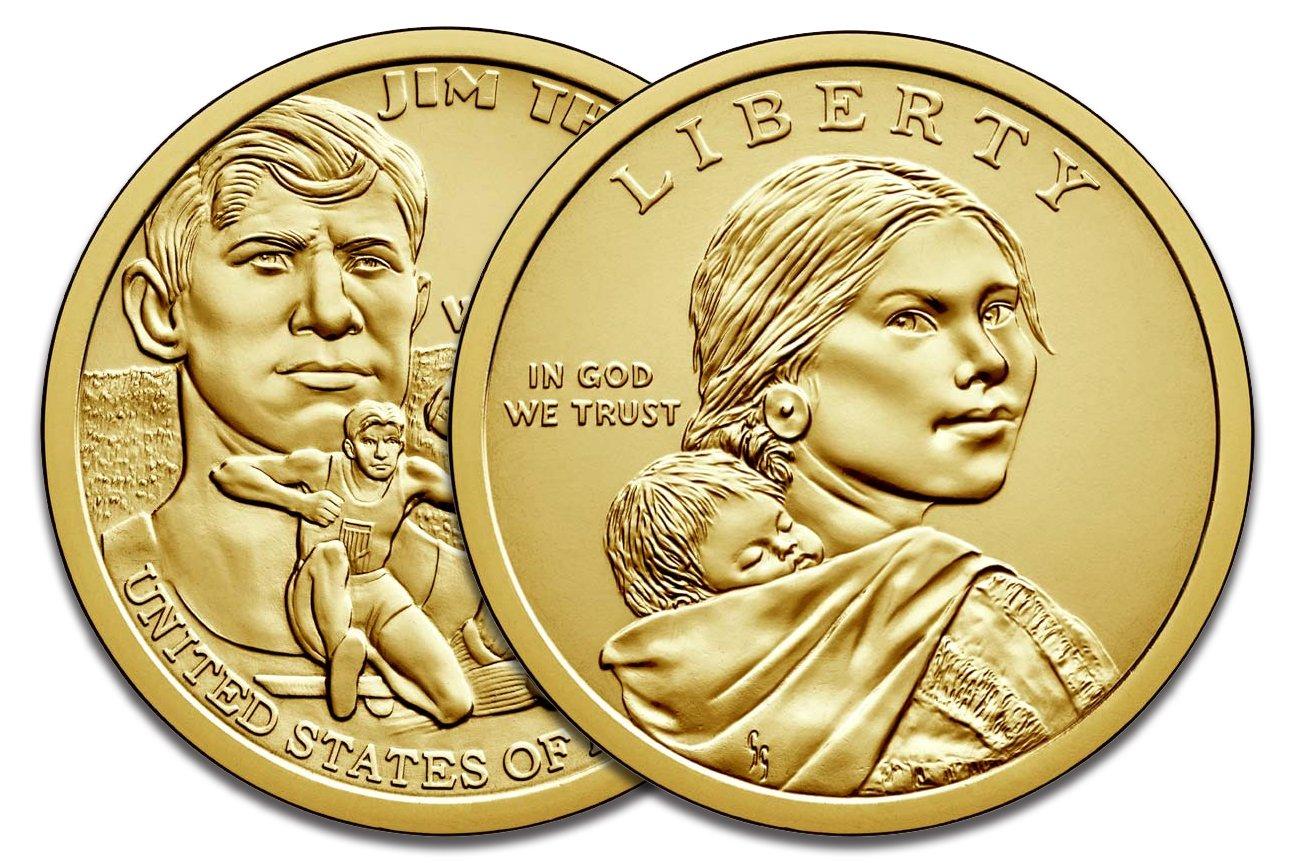2016 P /& D Sacagawea Dollar Native American Brilliant Uncirculated