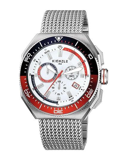 Kienzle K8031522042-00138 - Reloj analógico de cuarzo para hombre con correa de acero inoxidable
