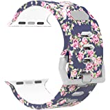 Antemart Replacement Band Strap for Apple Watch iwatch Series 3 Series 2 Series 1 Nike+ Hermes Edition 38mm 42mm, Printed Silicone Bracelet Wristband