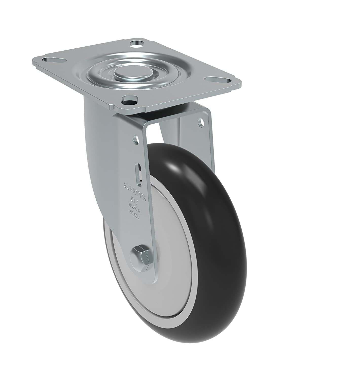 325 lb Bolt Holes 3-1//8 x 2-1//4 Non-Marking Polypropylene Precision Ball Bearing Wheel Schioppa GL 512 NPE SL L12 Series 5 x 1-1//4 Diameter Swivel Caster with Wheel Lock Brake Plate 3-1//8 x 4-1//8