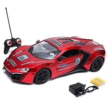 Buy Wembley Toys 1 16 Scale Racing Bonzer Remote Control Car Led Rechargeable Battery Rc Car Series With Charger For Kids Red Online At Low Prices In India Amazon In