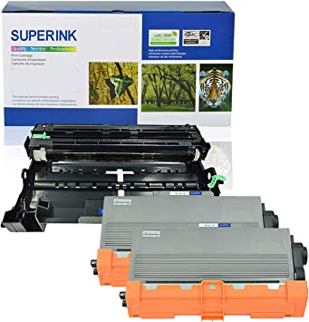 2PK TN750 Toner Cartridge DR720 Drum Set For Brother DCP-8110DN 8150DN Printer