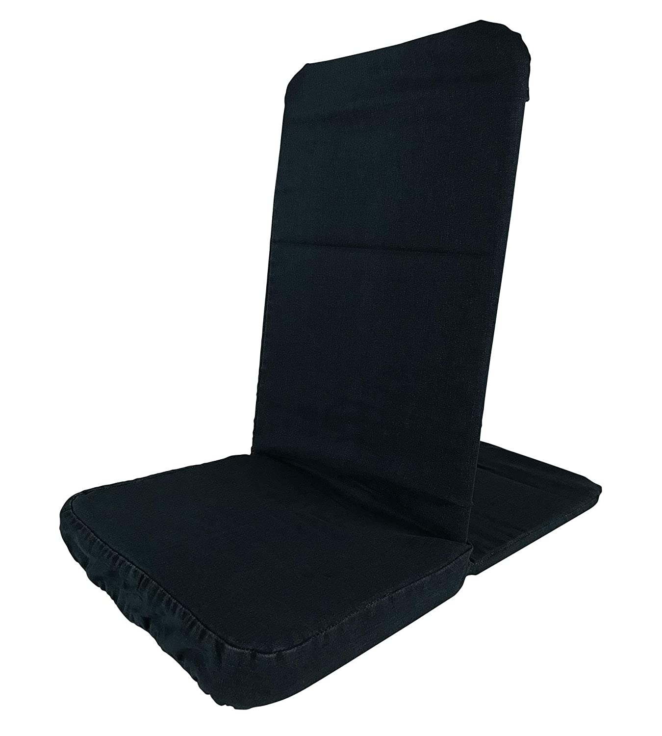 Back Jack Floor Chair, Standard, Black