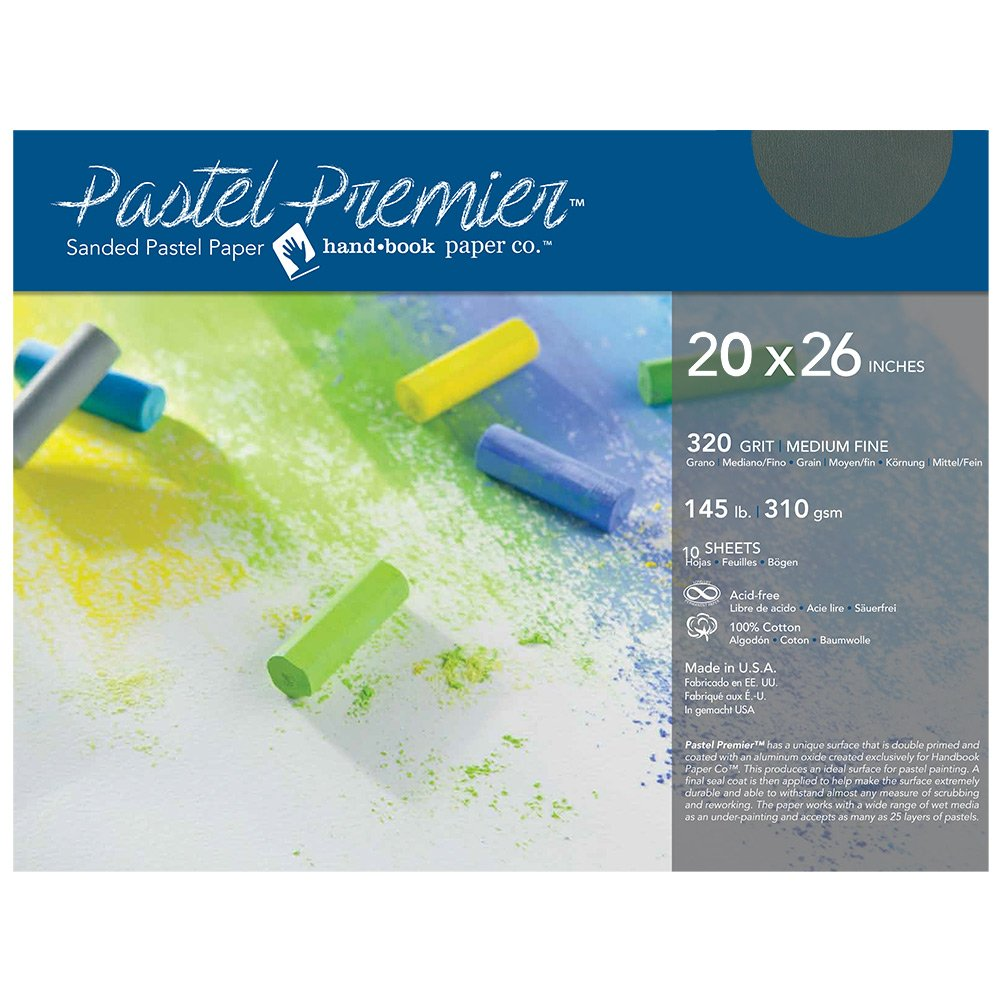 Pastel Premier Paper Slate 20x26 10-Sheets by Handbook