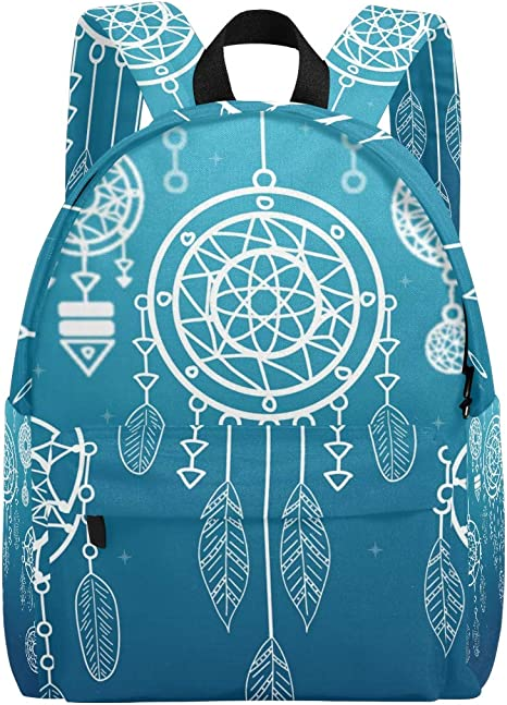 Backpack Rucksack Travel Daypack Dream Catcher Feather Book Bag Casual Travel Waterproof