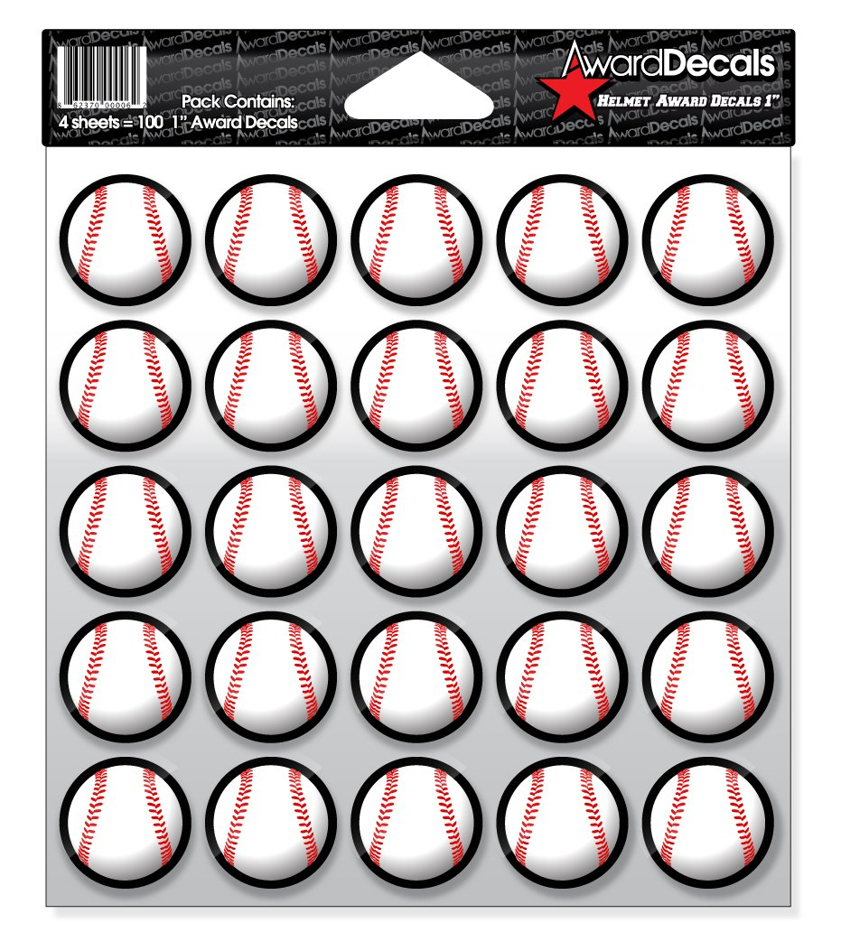 Amazon com award decals baseball helmet 1 ba 2 baseball sports outdoors