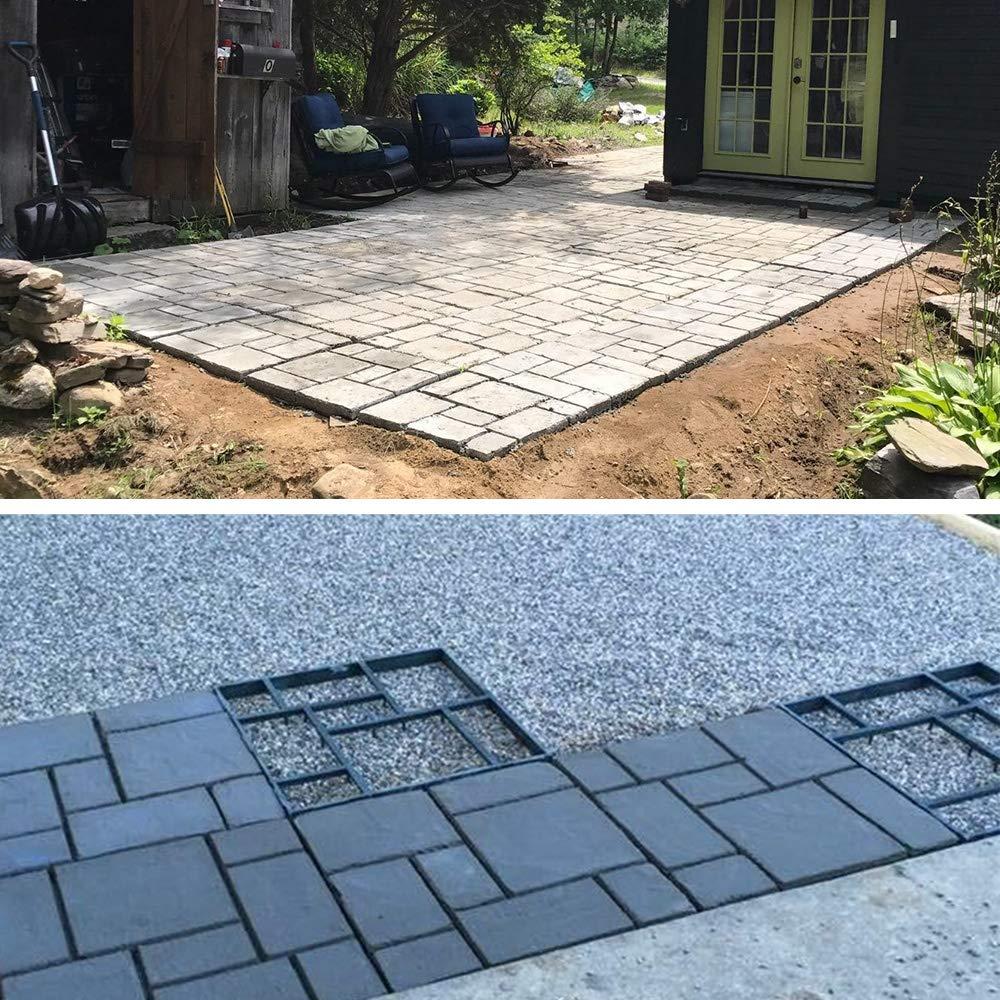 Plus Size Walk Maker Reusable Concrete Path Maker Molds Stepping Stone Paver Lawn Patio Yard Garden DIY Walkway