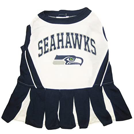 Amazon.com   Seattle Seahawks NFL Cheerleader Dress For Dogs - Size ... 2e87eb76a
