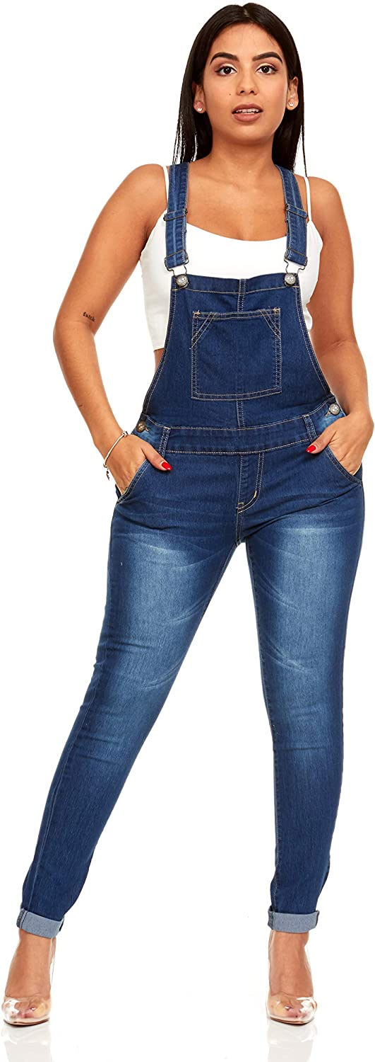 YDX Smart Jeans Juniors Overalls Denim Skinny Long Pant Solid or Ripped