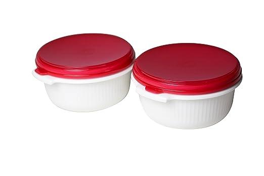 Emsa olla microondas MICRO Family blanco 1 L Tapa Color Rojo 2 ...
