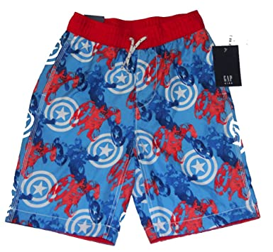 51a23a3b4f Image Unavailable. Image not available for. Color: Marvel Captain America  Boys Shorts Swim ...