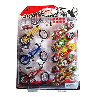 Fmingdou Toy Mini Finger Skateboards Bicycles Children Kids Gifts Cool Funny Educational: Toys & Games