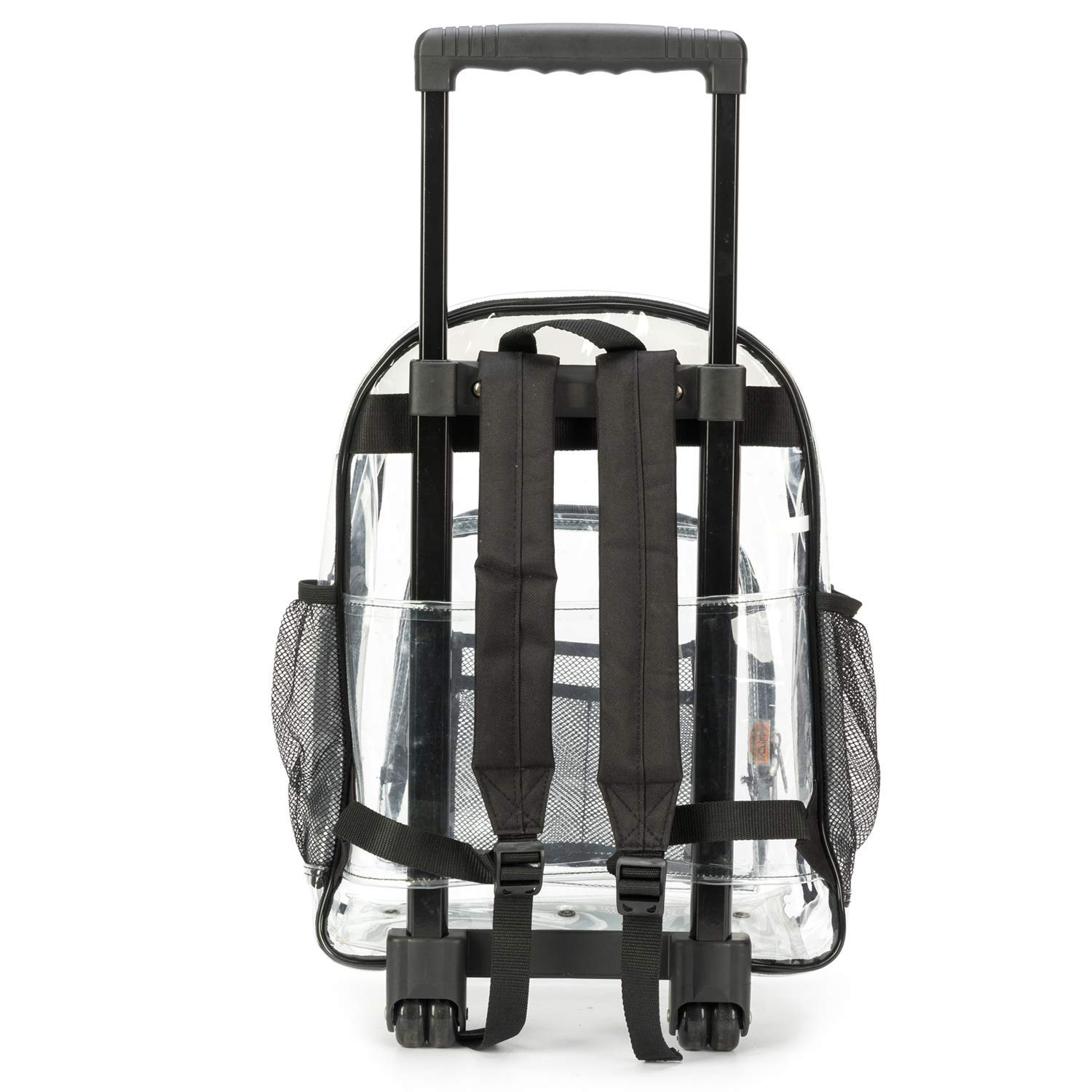 Rolling Clear Backpack Heavy Duty Bookbag Quality See Through Workbag Travel ...