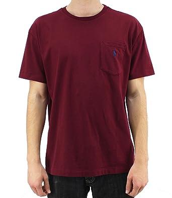 222fca7f0aafa Polo Ralph Lauren Men s Maroon Crew Neck T-Shirt 1273933-CLSC WINE ...